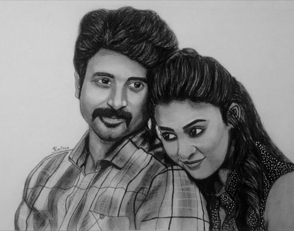 My drawing 😍✍🏼❤️ @Siva_Kartikeyan @NayantharaU  #SIVAKARTHIKEYAN #Nayanthara #Velaikaran https://t.co/fwQcNnZZjX