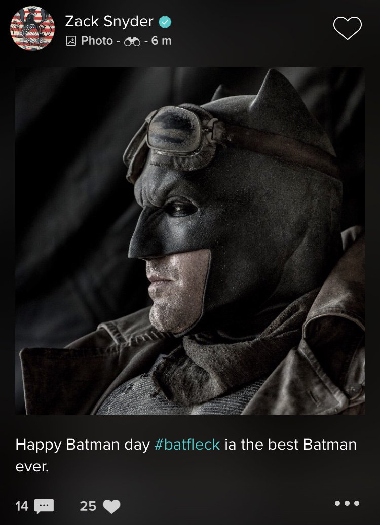 DKbiaIcW0AItLHL Zack Snyder Calls Ben Affleck the Best Batman Ever