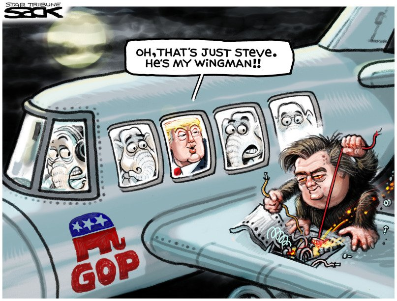 Don&#39;t be fooled - #Bannon is out of the #WhiteHouse but still driving the agenda.  #RacistInChief #Racist #Resist<br>http://pic.twitter.com/Gd6wcWT03b