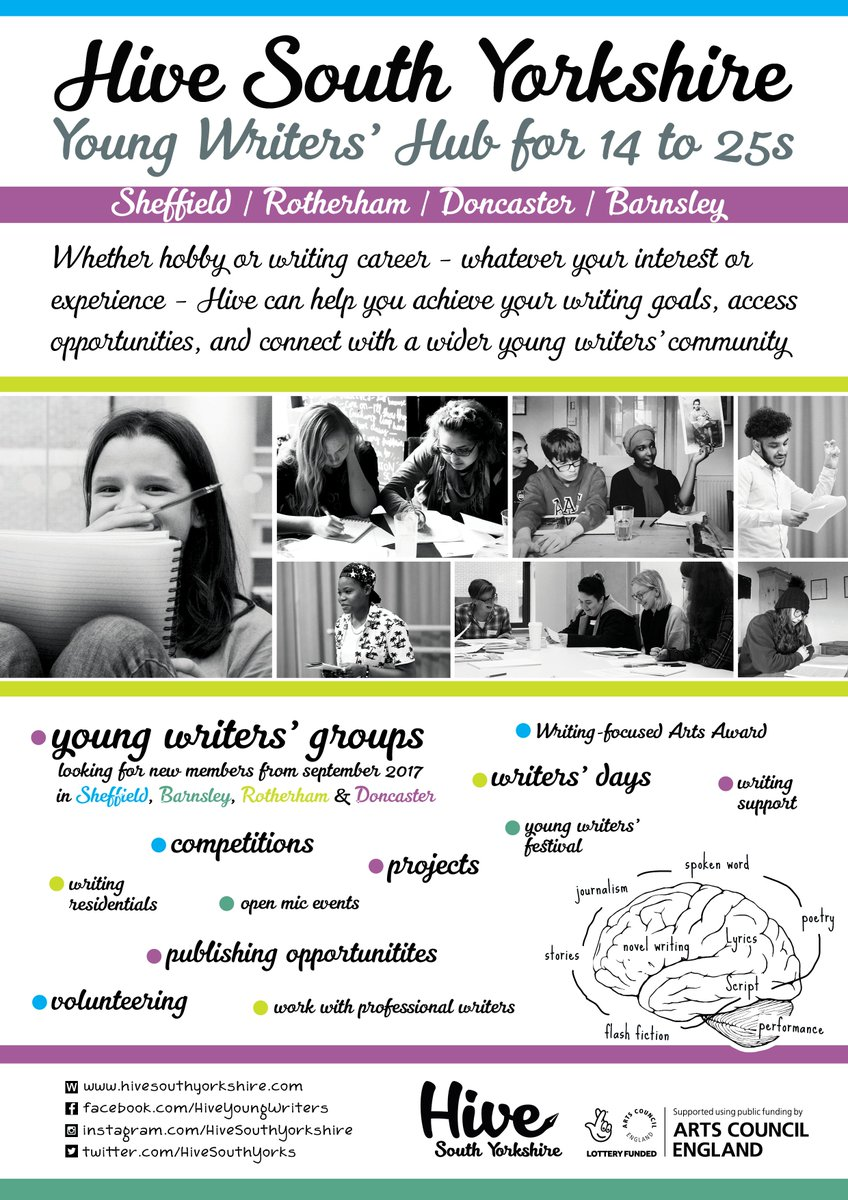 We have young writing groups in #Sheffield, #Rotherham, #Barnsley &amp; #Doncaster starting this autumn among other great happenings &gt;&gt; <br>http://pic.twitter.com/z2qcVy9dm2