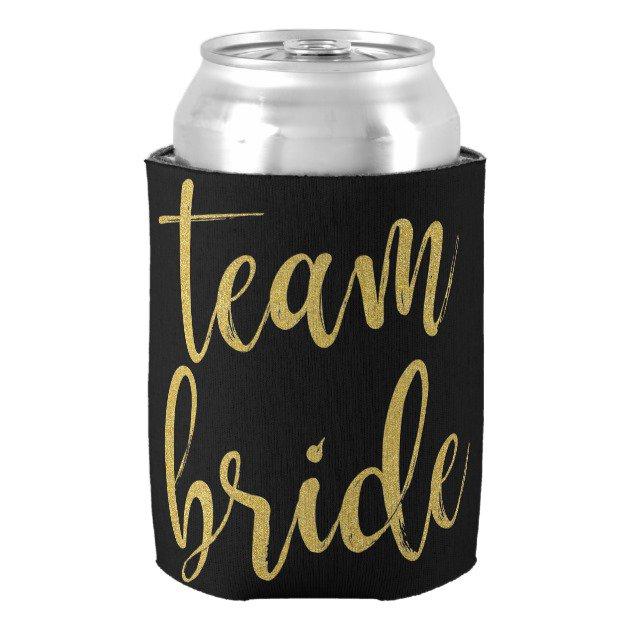 Team Bride Gold Glitter Can Cooler #Wedding #BridalShower #Bachelorette #TeamBride #Koozie #Coozy  http:// bit.ly/2uunO2A  &nbsp;  <br>http://pic.twitter.com/LpjX3AbmKn