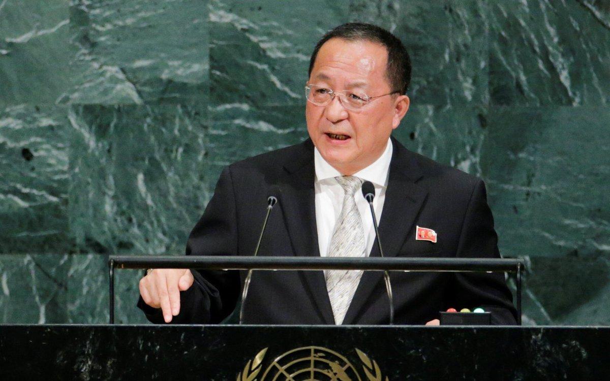Глава МИД КНДР: Мы вынуждены защищаться, США - это конкретная угроза. На ядерное оружие тирана надо отвечать ядерным молотком правосудия