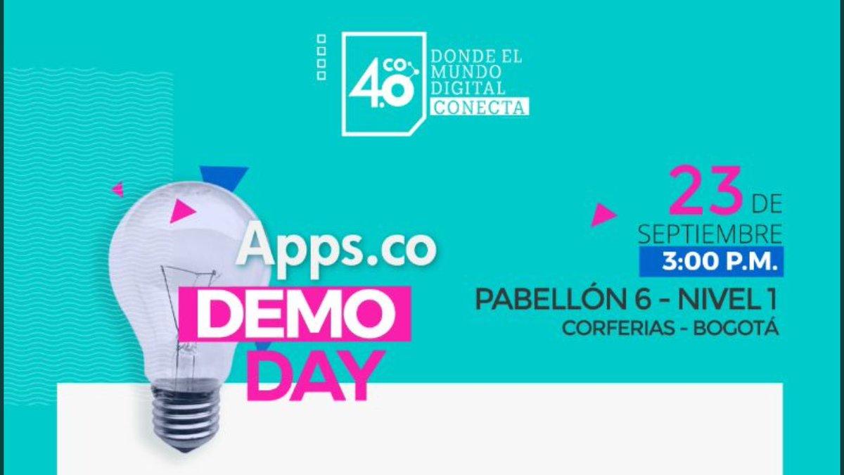 Recuerda: 3pm conoce emprendedores digitales que cambian la vida con las TIC #DemoDayAppsCo. ¡No te lo pierdas y llévate fabulosos premios https://t.co/onLI7l7kY8