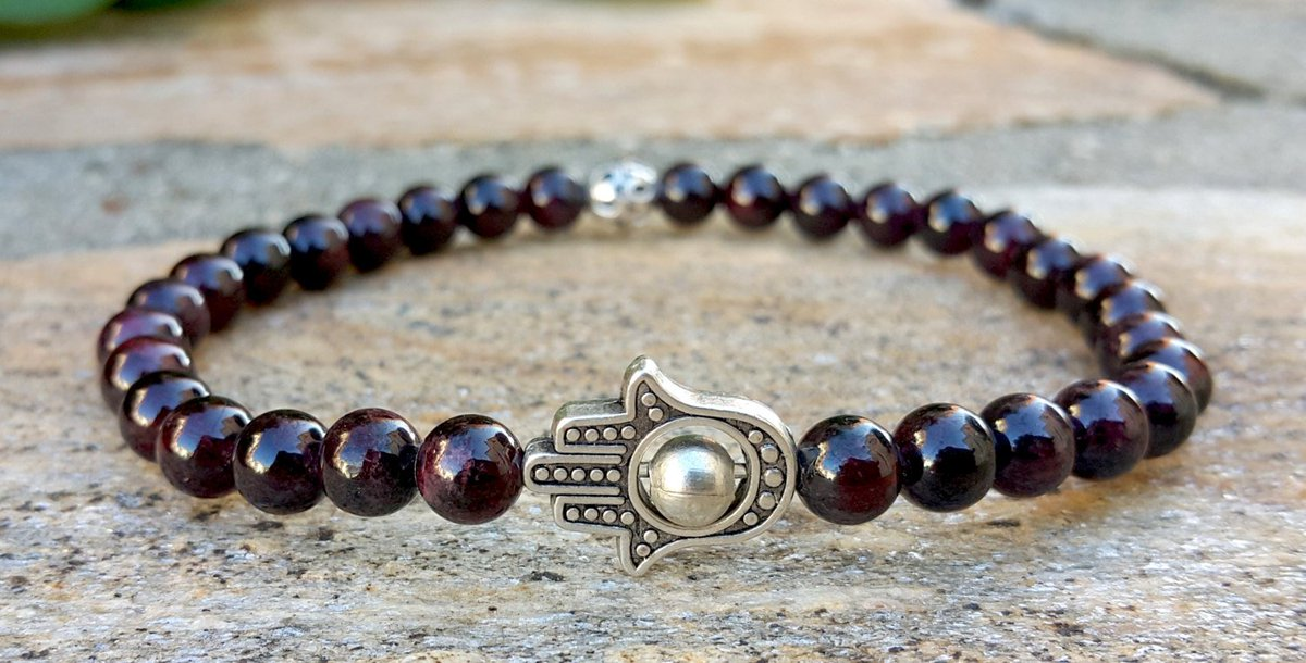 Fertility Bracelet, Red Garnet, Hamsa Jewelry, Natural Gemstone Yoga Bracelet, Protective  https:// seethis.co/JQmYME/  &nbsp;   #epiconetsy #etsygift<br>http://pic.twitter.com/Ex3PnyuRe8