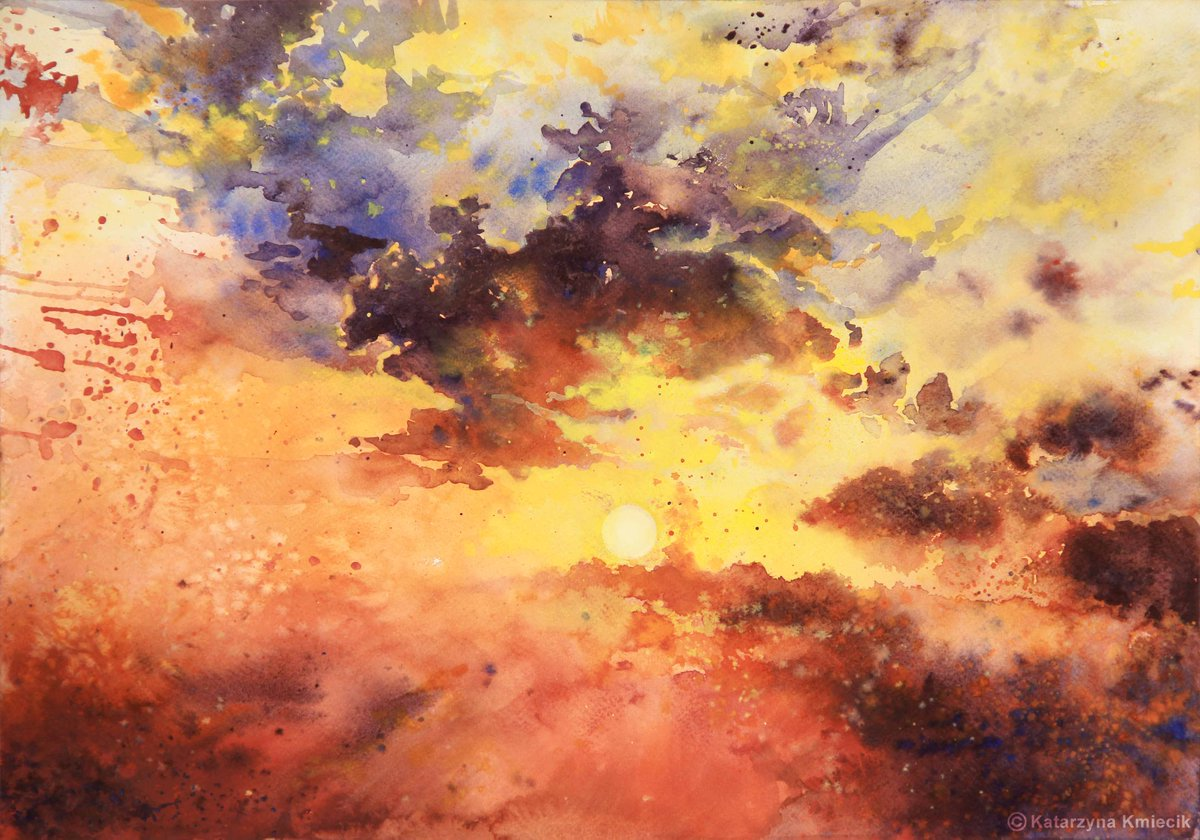 One of my #watercolor skies:) #RT if you like it!   http:// etsy.me/20ll28u  &nbsp;   #painting #sky #clouds #colorful #prints<br>http://pic.twitter.com/V5zXjQQKOC