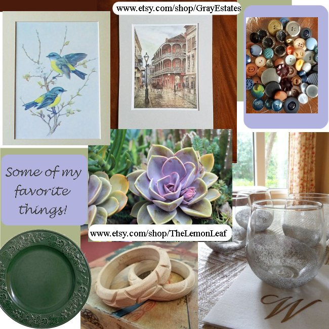 Some of My Favorite Things by Marcia @etsy @EtsyClub  http:// etsy.me/2hmEmbx  &nbsp;   #vintage #etsyspecialt #SpecialTWeek #wallart #jewelry #buttons <br>http://pic.twitter.com/zIwxYwDjVJ