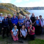 Group photo of South Cots walkers on last walk along the South West coast path.