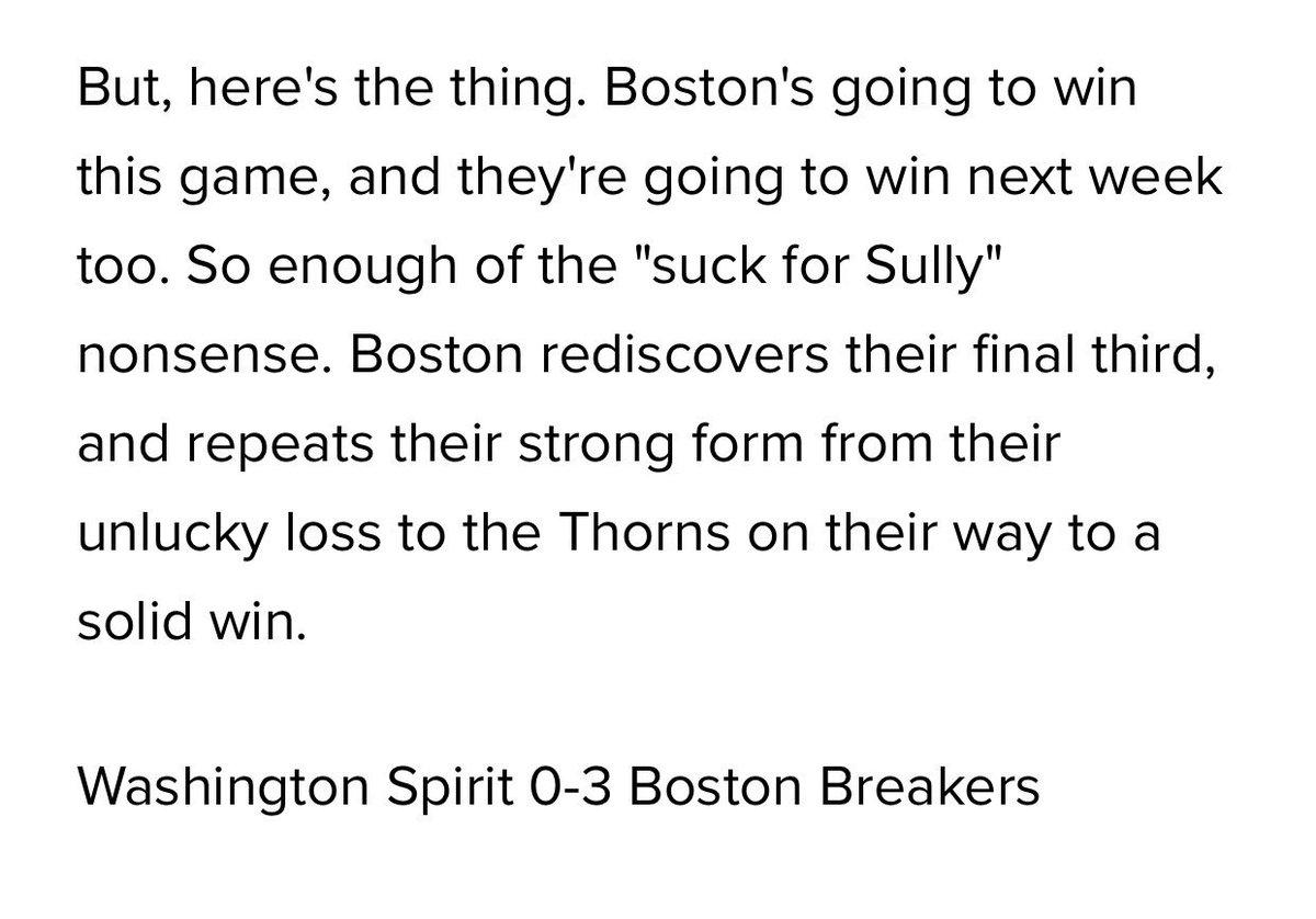 Final score from #NWSL #WASvBOS is Washington 0-3 Boston. Sounds familiar... <br>http://pic.twitter.com/B38k25K7Hw