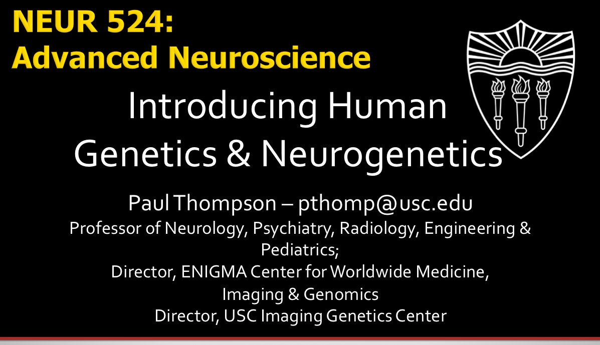 I&#39;m teaching #genetics to #Neuroscience PhD students at #USC next week - it took 9 hours to write the 1st lecture but at least it&#39;s done! :)<br>http://pic.twitter.com/qUIcONRAyz
