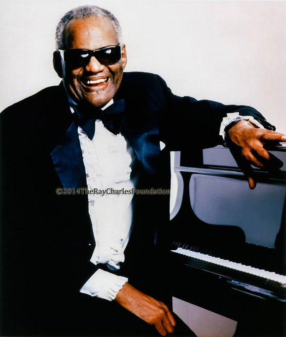 "Happy birthday to the ""genius\"" Ray Charles. RIP Ray."