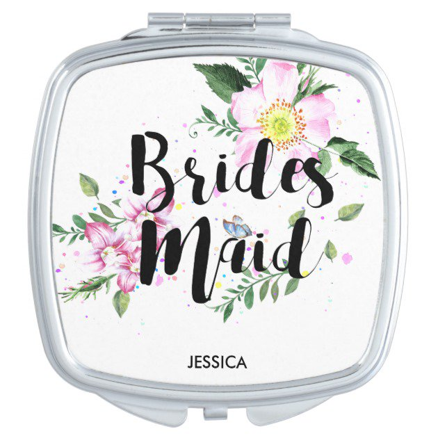 Bridesmaid Floral Watercolor Vanity Mirror #BridalShower #BridalShowerGifts #BacheloretteParty  http:// bit.ly/2saWLw6  &nbsp;  <br>http://pic.twitter.com/BtUNJc6vqb
