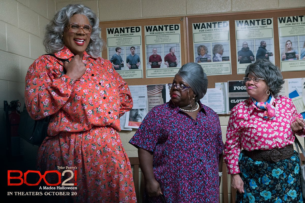 Tag your squad and see @TylerPerry's hilarious #Boo2! A Madea Halloween in theaters October 20!