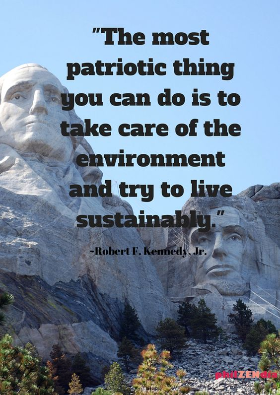 The most #patriotic thing you can do is take care of #environment &amp; try to live #sustainably #Quote #RobertKennedy #ClimateChange #WeCare<br>http://pic.twitter.com/6IPk1Jv3NG