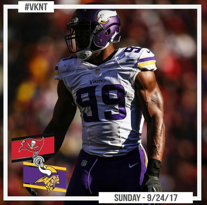 #Vikings look to defend home turf against Tampa Bay tomorrow! Give us your score predictions #PurpleNation!   #SKOL <br>http://pic.twitter.com/7IK5rs2NQ7