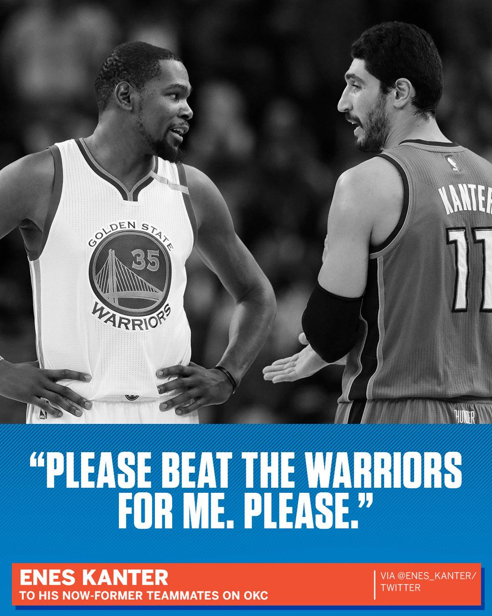Kanter深情告白雷霆:唯有感激  請幫我擊敗勇士(影)-Haters-黑特籃球NBA新聞影音圖片分享社區