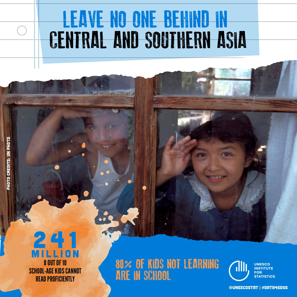 Most children not learning are in school: @UNESCOstat report points to 'crisis' in Central &amp; Southern #Asia  http:// ow.ly/wIPz30fmGdW  &nbsp;   #SDG4<br>http://pic.twitter.com/P8cZTOnR8M