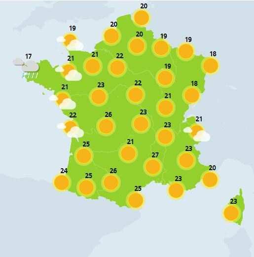 Beau temps sur (presque toute) la France, demain https://t.co/vveo5j3zWR
