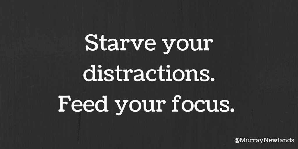 Starve your distractions. Feed your focus.   #Motivation #Inspiration <br>http://pic.twitter.com/v99jcwI7TA