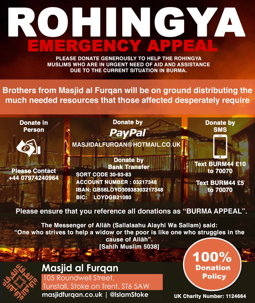 #Rohingyas #EnvoyeSpecial  Urgent  Please Donate Generously  Please share and retweet  http:// Paypal.me/MasjidAlFurqan  &nbsp;  <br>http://pic.twitter.com/EdwjFmXMp5