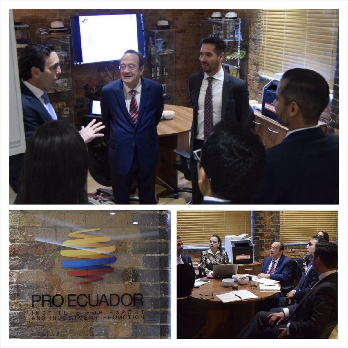 Minister @CampanaPablo , @EmbajadaEcuUK &amp; @Pro_Ecuador have a work meeting in #London - #Ecuador #investment #promotion @ComercioExtEc<br>http://pic.twitter.com/fshUVkoTQk