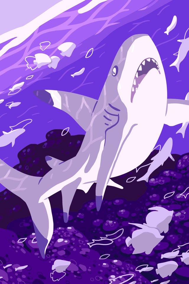 My piece for @jpdraws &#39;s Swim On Zine! #shark #sharks #zine #illustration<br>http://pic.twitter.com/TvpksaKJdw