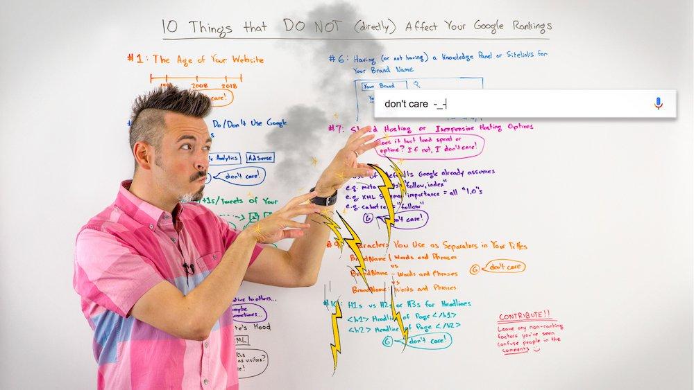 10 Things that DO NOT (Directly) Affect Your Google Rankings - Whiteboard Friday  https://www. mhb.io/e/48rhg/3n  &nbsp;   #webtraffic <br>http://pic.twitter.com/i9Vm4ROdYD