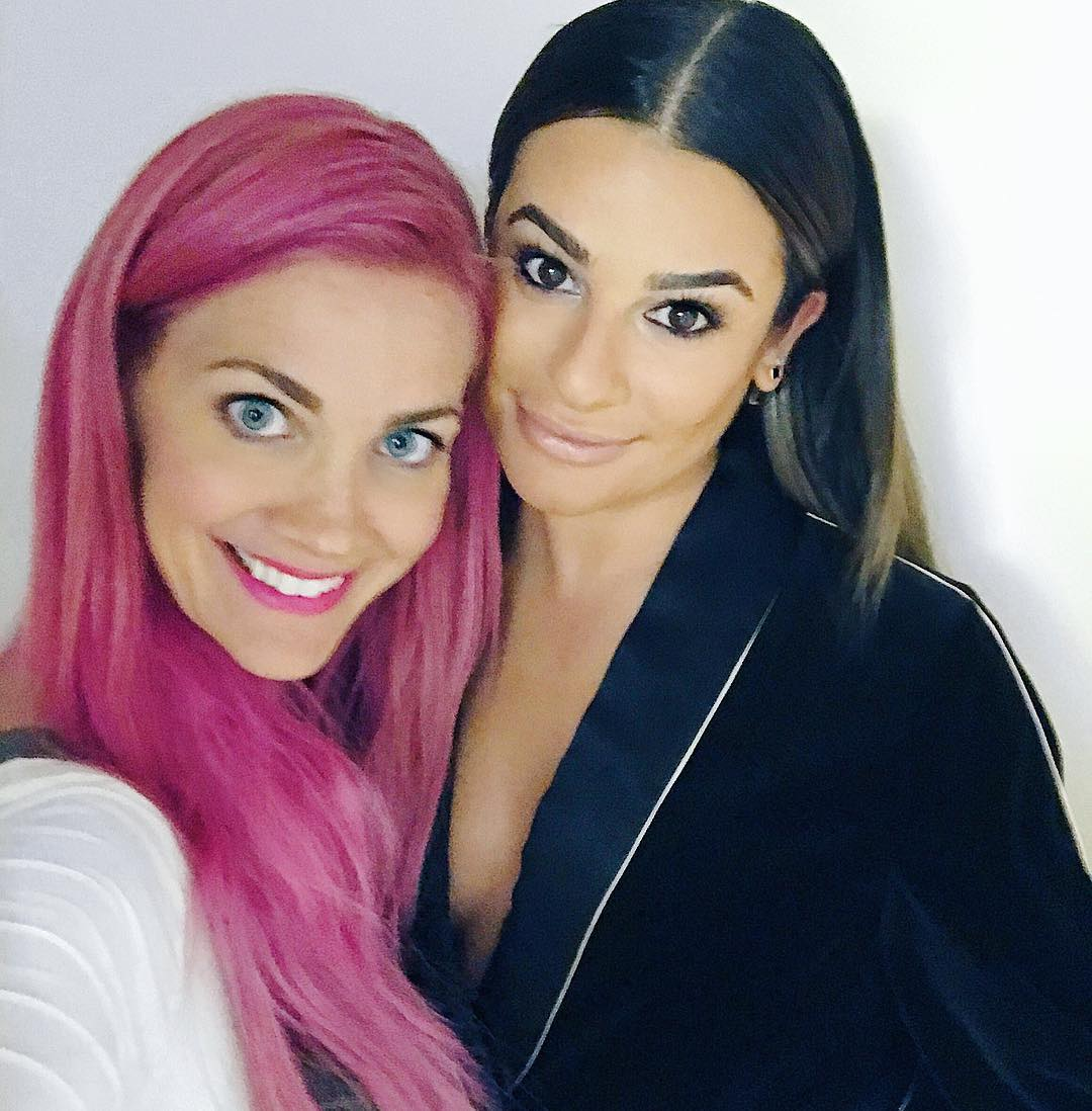 sarahpotempa: Back with this babe in #nyc!!  you @leamichele! #newyork #leamichele #makeup by @meredithbaraf <br>http://pic.twitter.com/WPPcgVmFNM