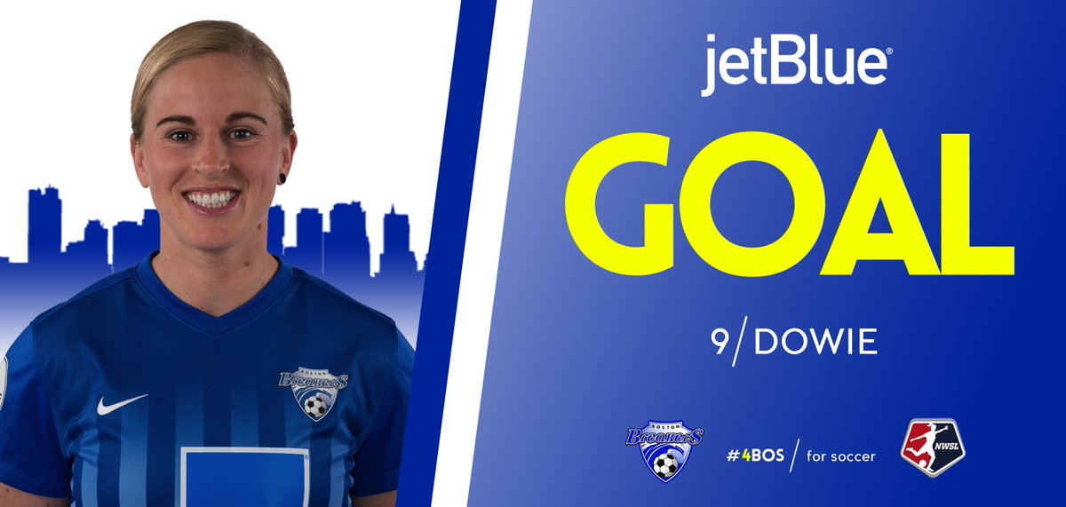GOALLLLLLLLLL Natasha Dowie! Heads home a great cross from Leon to give the Breakers a 1-0 lead in the 47th minute! #WASvBOS <br>http://pic.twitter.com/vIXmJzJ0BB