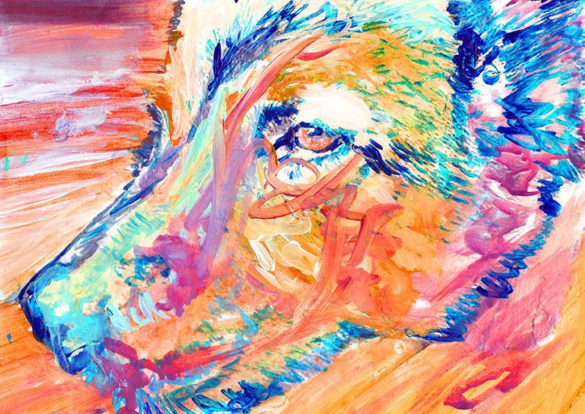 German Shepherd ,dog painting, print, Alsatian Portrait, orange aqua...   https:// goo.gl/vnX31i  &nbsp;   #dog #art #puppy #doglover <br>http://pic.twitter.com/A5150UzJ6a