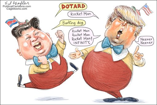 #dotard #barking dog #trump#kim jung un #insult #deranged #dangerous #nuclear #h bomb #isolation <br>http://pic.twitter.com/HzBYIgmaWB