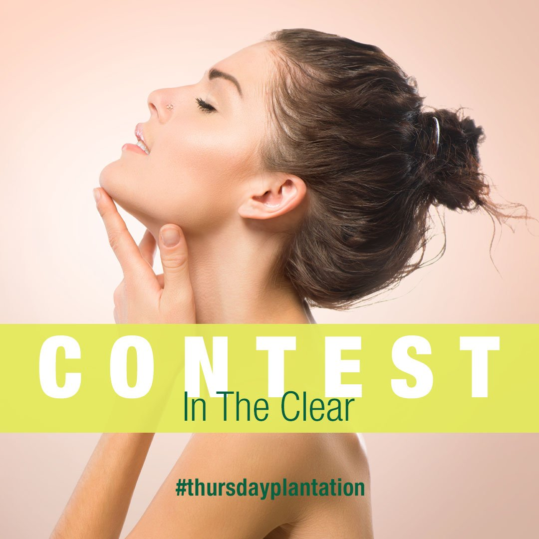 It&#39;s giveaway time! #Win a Thursday Plantation #intheclear #skincare kit! Just #follow and #RT to enter! #twitterwin #freebie #freestuff<br>http://pic.twitter.com/LOEk9DRhpE