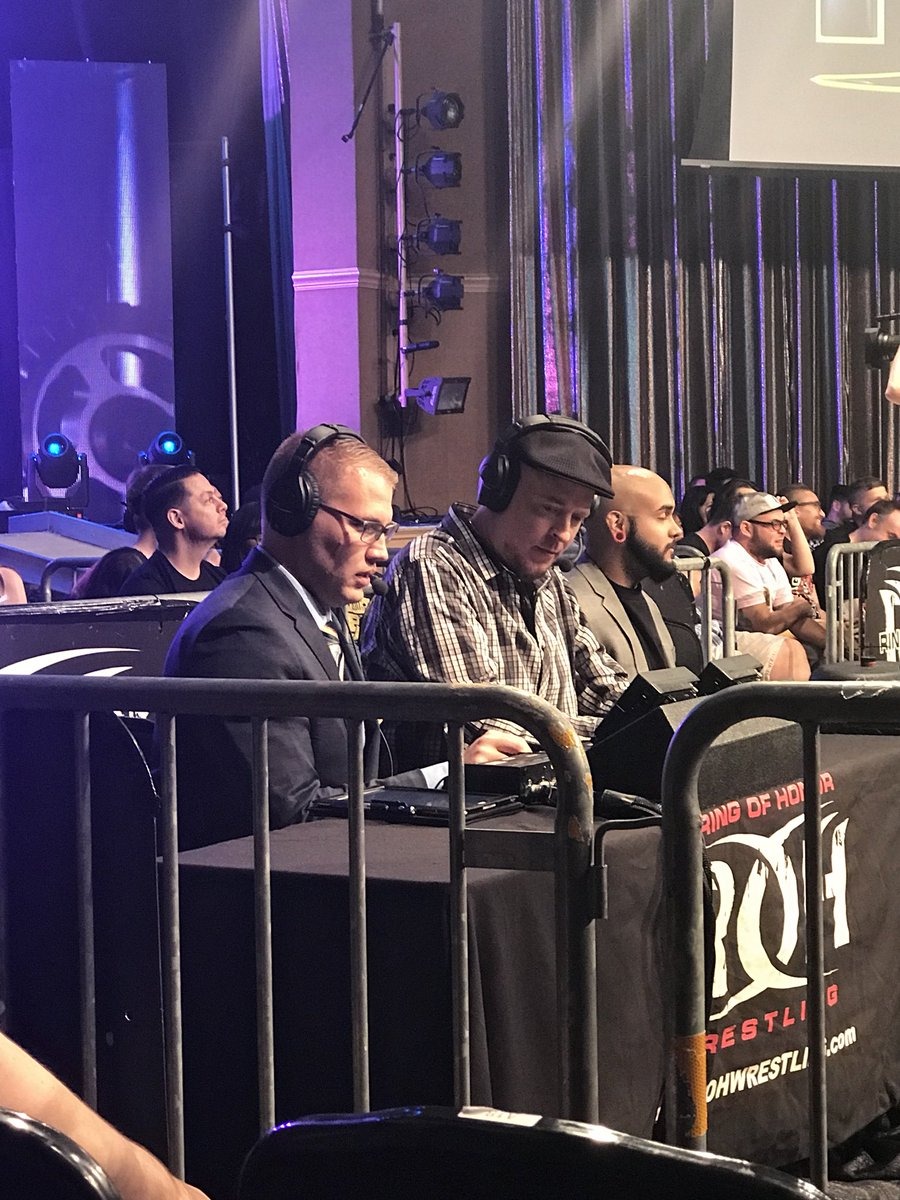 The king of #pma @OGkevingill is calling a match with @IanRiccaboni #rohvegas<br>http://pic.twitter.com/lmHdXAe5Lm