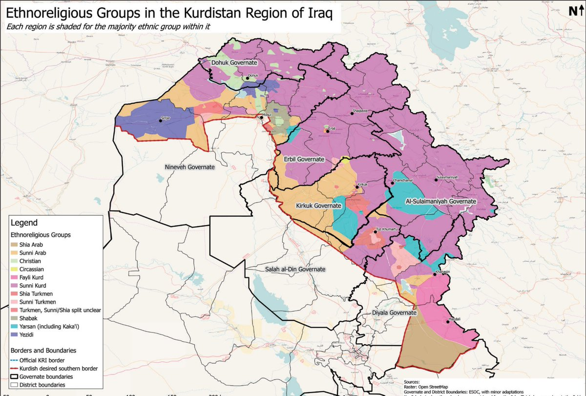 nathan ruser on twitter map the ethnoreligious composition of iraqs northern kurdistan region map by aleph policy initiative httpstcoo8iqmc98iz