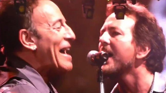 Eddie Vedder Singing Happy Birthday To Bruce Springsteen Is Adorable