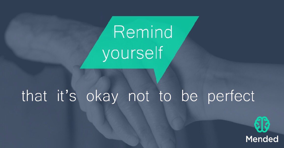 No one is perfect, and that&#39;s okay   National Suicide Prevention Month (Day 23)  1-800-273-8255  #RT #Mended #Repost #AppComingSoon<br>http://pic.twitter.com/Q59b38GKJ9