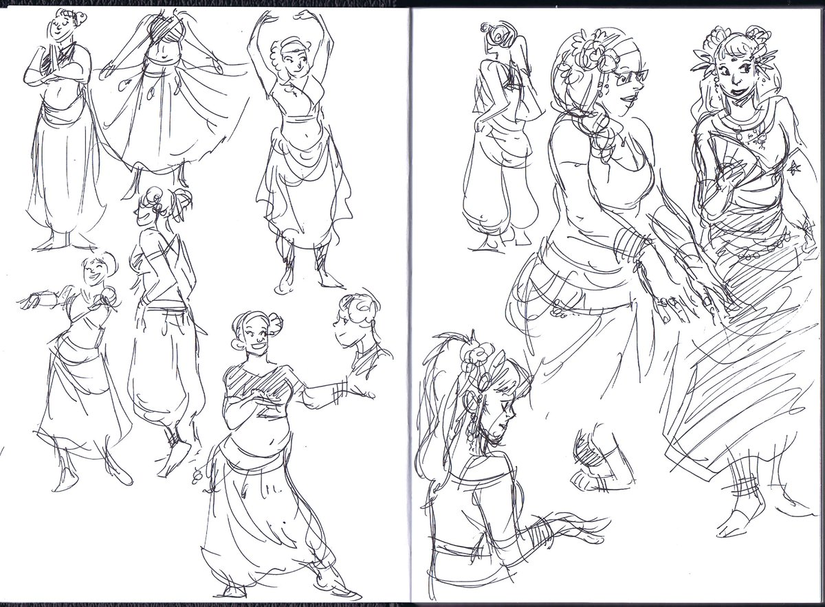 Snuck in a few sketches at my friend&#39;s dance recital this evening #dance #bellydance #studies <br>http://pic.twitter.com/Qev0lAxbqw