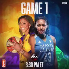 It's GAMEDAY!   The #WNBAFinals tip off at 3:30pm/et on ABC! #WatchMeW...