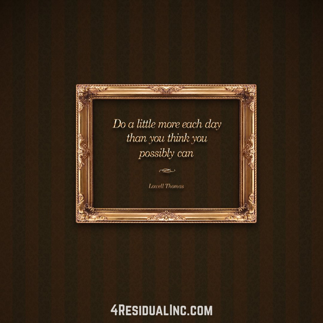 Do a little more each day than you think you possibly can - Lowel Thomas #SuccessQuotes <br>http://pic.twitter.com/9v8nHwYtz0