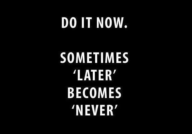 Do It Now Sometimes later become never #entrepreneur #success #MakeYourOwnLane #defstar5 #mpgvip #spdc #inspiration #quotes #SundayMorning<br>http://pic.twitter.com/xJ9b9wwQp8