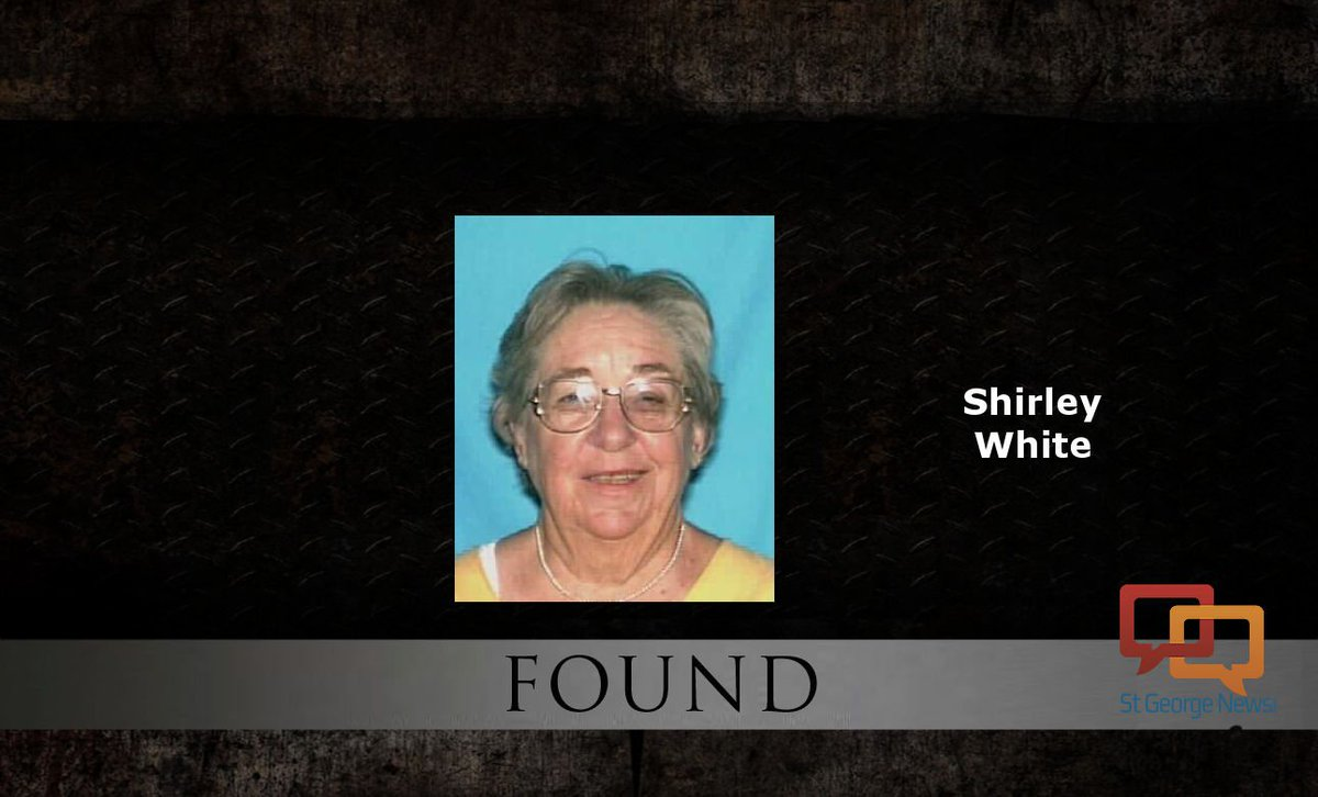 UPDATED: 86-year-old Shirley White found safe #SoUtah #StGeorge  http://www. stgeorgeutah.com/news/archive/2 017/09/23/jcw-st-george-police-ask-for-help-finding-missing-86-year-old-shirley-white/ &nbsp; … <br>http://pic.twitter.com/QQDJi7YF4D