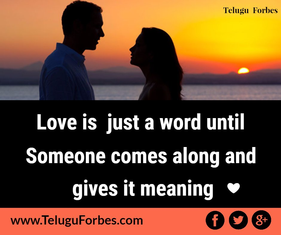 Follow us for more Love Quotes  #LoveQuotes #TeluguForbes #Love<br>http://pic.twitter.com/74RPtjHNyz