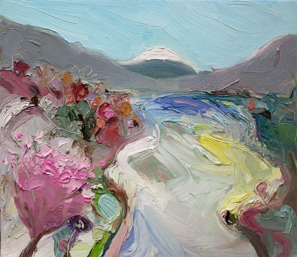 """hakone spring"" 35X45 #interiordesignideas #oilpainter #modernart <br>http://pic.twitter.com/n6AJJ5aF3k"