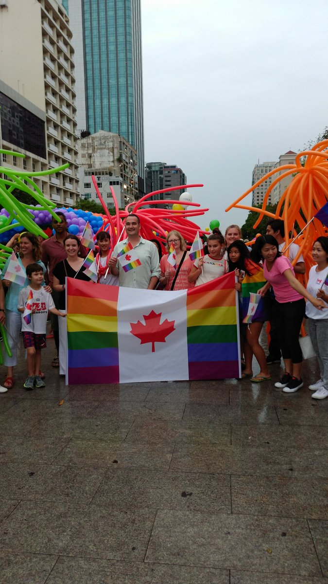 """Kyle Nunas on Twitter: """"Proud to be with colleagues from the Canadian  Consulate General in Ho Chi Minh City at VietPride in HCMC. @vietpride # vietpride… https://t.co/XYXLD4VJaP"""""""