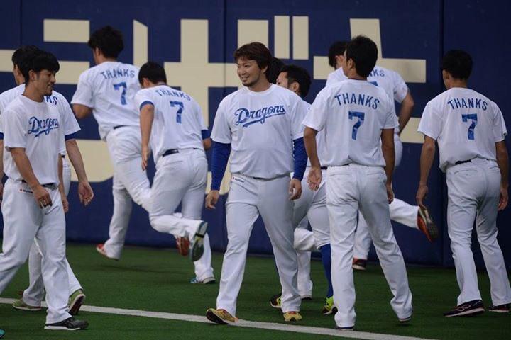 試合後に行いました森野選手の引退セレモニーの写真です。試合前チームはは7番のTシャツを来て練習しました。本日ご来場のスタンド皆さん、熱いご声援ありがとうございました!