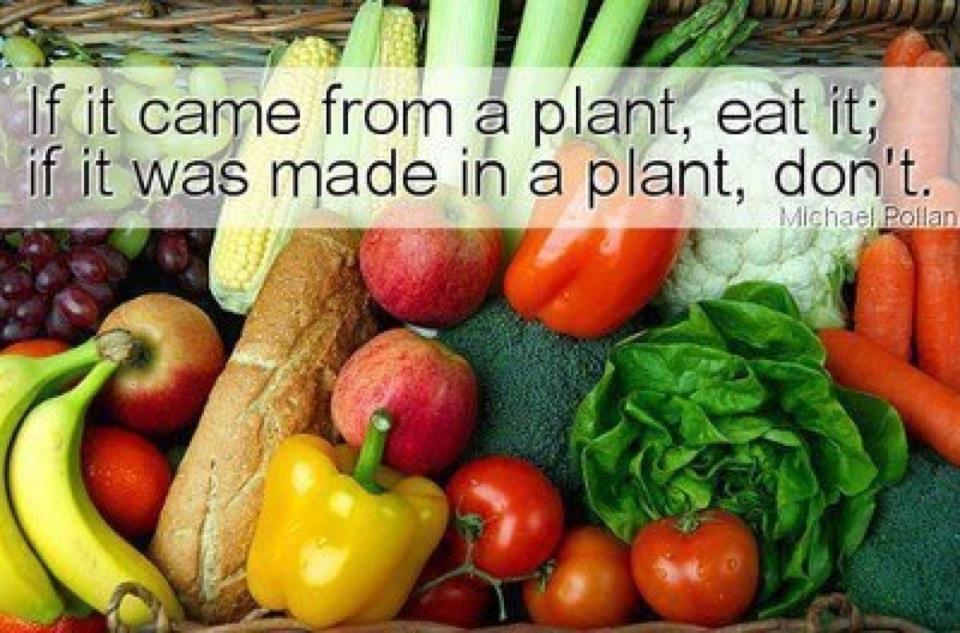 If it comes naturally from a PLANT, Eat it. If it was manufactured in a processing PLANT don&#39;t Eat it. #HealthyEating #sundaymotivation<br>http://pic.twitter.com/VF4n5gCxWA