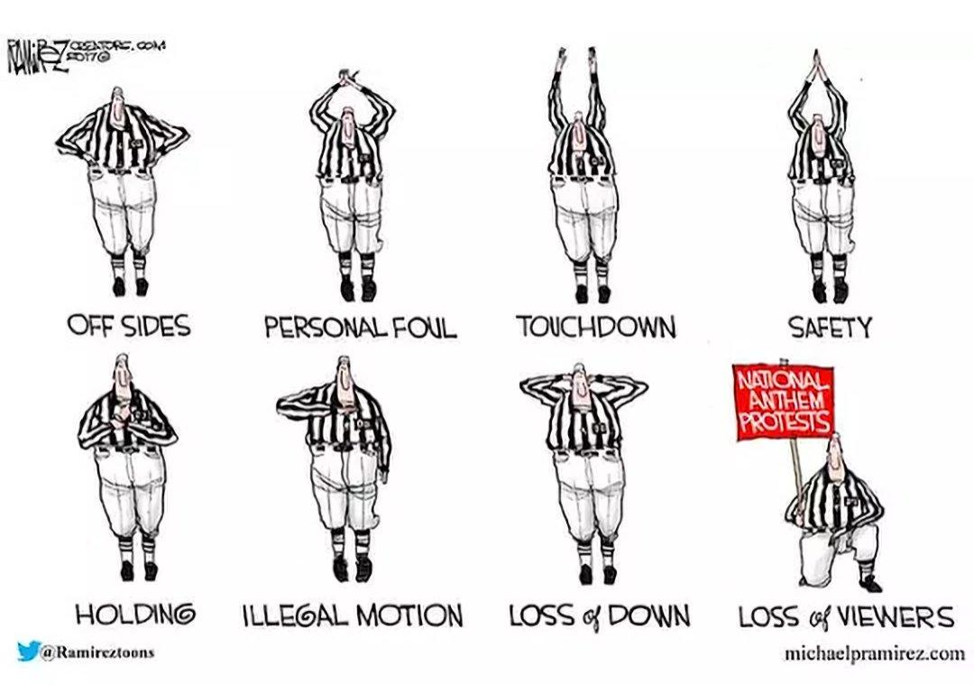 Too true. #NFLBoycott via the great @Ramireztoons https://t.co/SPQblcH...