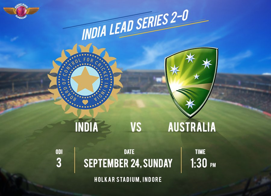 India go head to head with Aus for the 3rd ODI. Will Team India sweep the series today? 🇮🇳 #INDvAUS