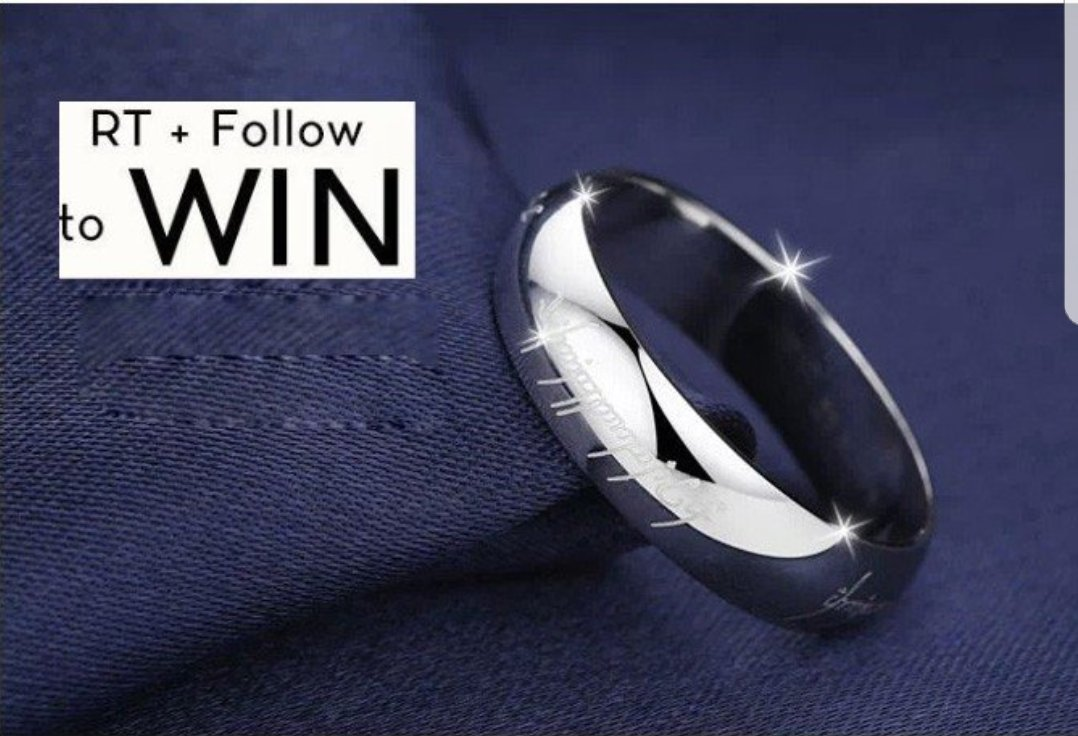 #follow &amp; #retweet to #Win a #lordoftherings Platinum Plated Ring! Size S #winner on 29th September! Good luck! #comp #giveaway #competition<br>http://pic.twitter.com/oE9SfvS28X