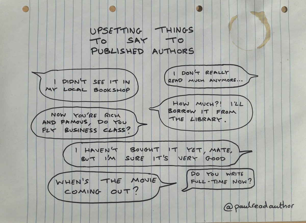 UPSETTING THINGS TO SAY TO PUBLISHED AUTHORS  #amwriting #amreading #writerslife #writerproblems<br>http://pic.twitter.com/R0dGnayGuc