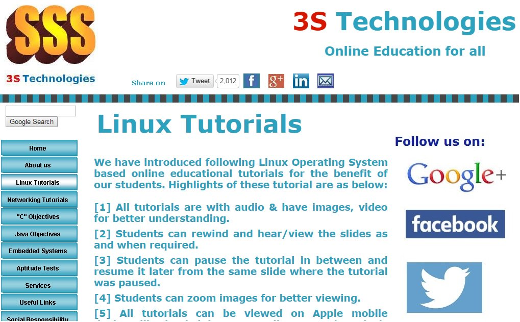 Have you visited our 'Linux Tutorials' section? If not, then do visit it at  http:// 3s-technologies.com/index_files/Li nuxTutorials.htm &nbsp; …  #Linux <br>http://pic.twitter.com/JDn4Txzv59